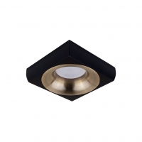 Точковий світлодіодний світильник вбудований Prima Luce PL-3553-BK +SL/GD