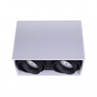 Точковий світлодіодний світильник накладний поворотний Prima Luce PL-0406-2 WH