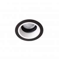 Точковий світлодіодний світильник вбудований поворотний Prima Luce PL-0213-BK +WH/SL