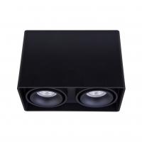 Точковий світлодіодний світильник накладний поворотний Prima Luce PL-0406-2 BK