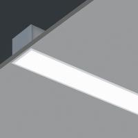 Лінійний світлодіодний світильник в алюмінієвому профілі вбудований Prima Tech (Україна)